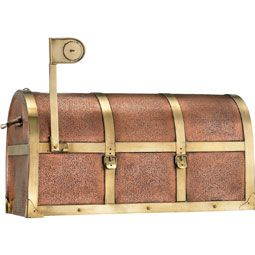 Copper steampunk mailbox....hmmm, wonder if my whole garden could be steampunk themed...