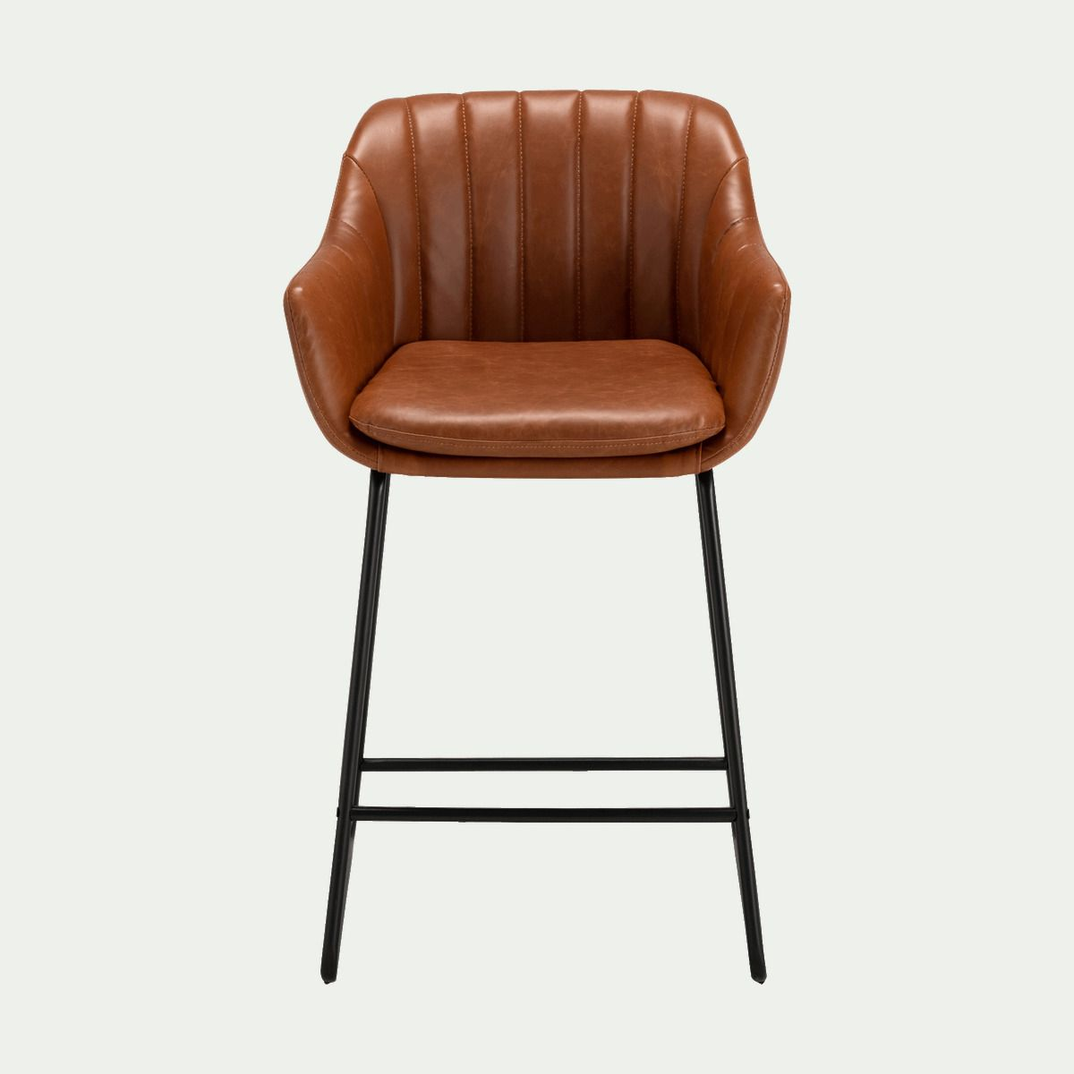 Chaise Haute En Simili Cuir Marron Olbia Tabouret De Bar En 2020 Chaise Haute Tabouret De Bar Chaise Plan De Travail