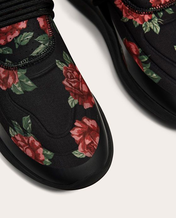 BLACK FLORAL SNEAKERS-View all-SHOES