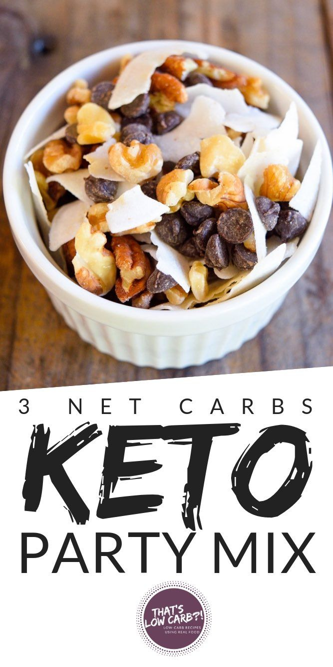Low Carb Party Mix With Just 4 Ingredients Perfect