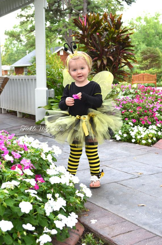 Lil\u0027 Bumblebee 4 PIECE Tutu Halloween Costume, Bee Costume for - unique toddler halloween costume ideas