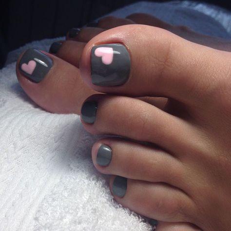Easy Toe Nail Art Idea Hair Nails Pinterest Easy Toe Nails