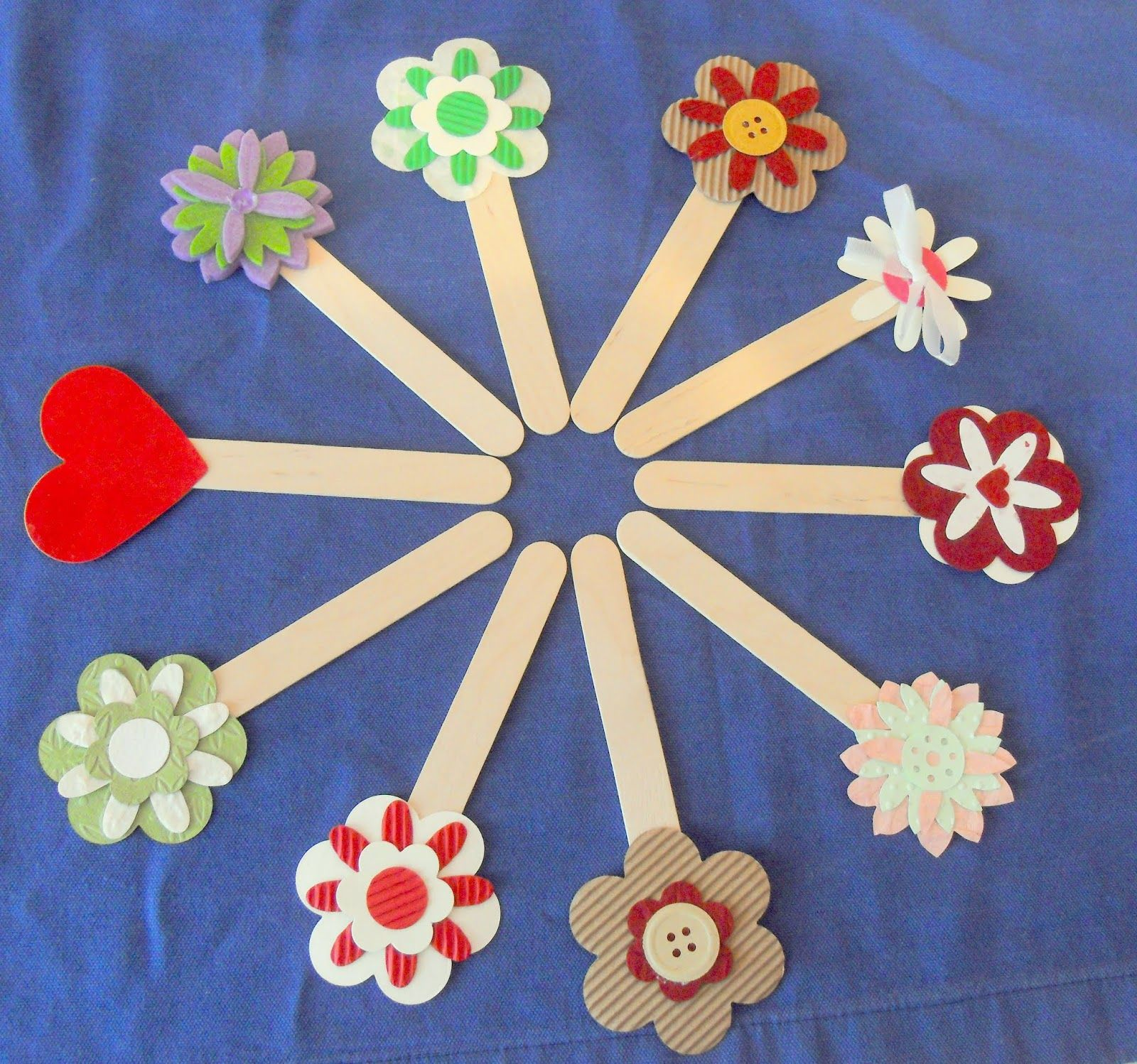 Segnalibri Stecco Abbassalingua O Paletta Carta Craft Stick
