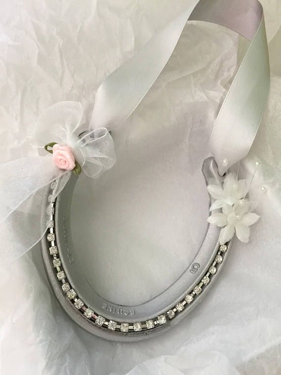 Simply Sparkling Hand Decorated Real Wedding Horseshoe Good