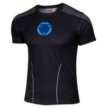 Marvel Super Heroes top short sleeve fashion men fitness t