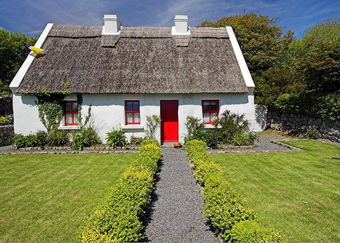 Thatch Roof Cottage Ireland Greeting Card For Sale By Pierre Leclerc Photography Ireland Cottage Irish Cottage Interiors Thatched Roof