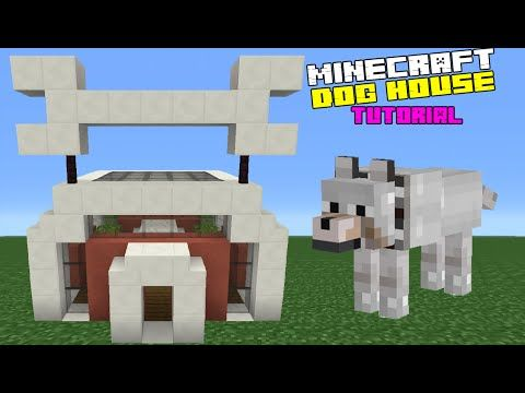 Minecraft Tutorial How To Make A Dog House Youtube Minecraft