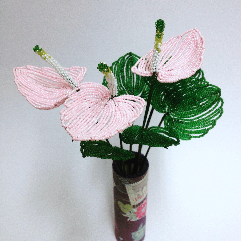 цветок хризантема из бисера схема