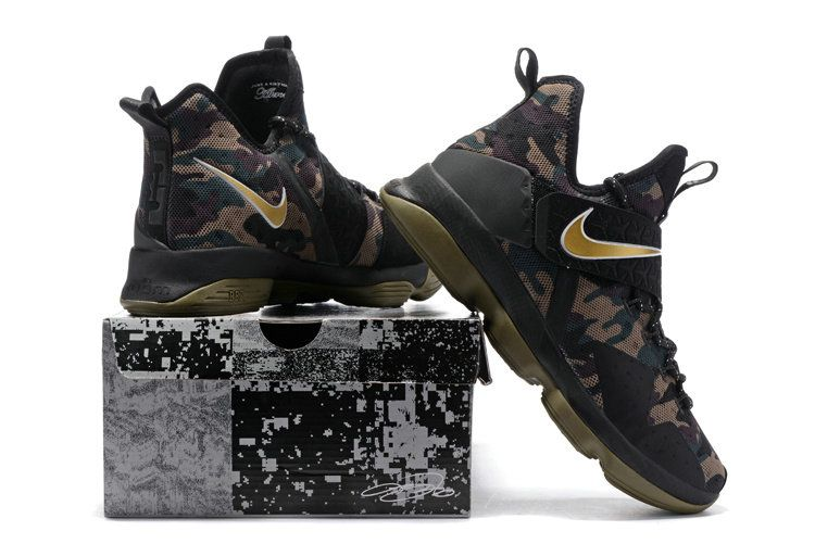 wholesale dealer 90a55 16116 Newest Lebrons Lebron 14 XIV Camo Gold Army | bball shoes ...
