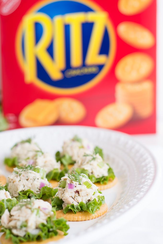 Tuna Salad on Crackers #PutItOnARitz #ad - Garnish & Glaze