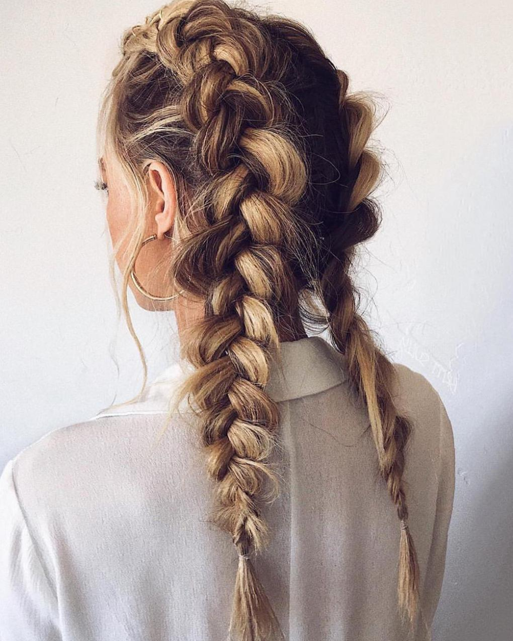 50 Trendy Double Braid Hairstyle Ideas To Keep You Cool Molitsy Blog In 2020 Long Hair Styles Prom Hairstyles For Long Hair Textured Hair