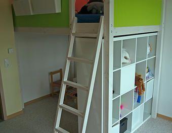 hochbett amalia bett pinterest hochbetten kinderzimmer und hochbett selber bauen. Black Bedroom Furniture Sets. Home Design Ideas