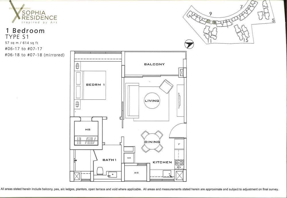 Sophia residence 1 room floor plan interior design for 1919 sophia floor plan