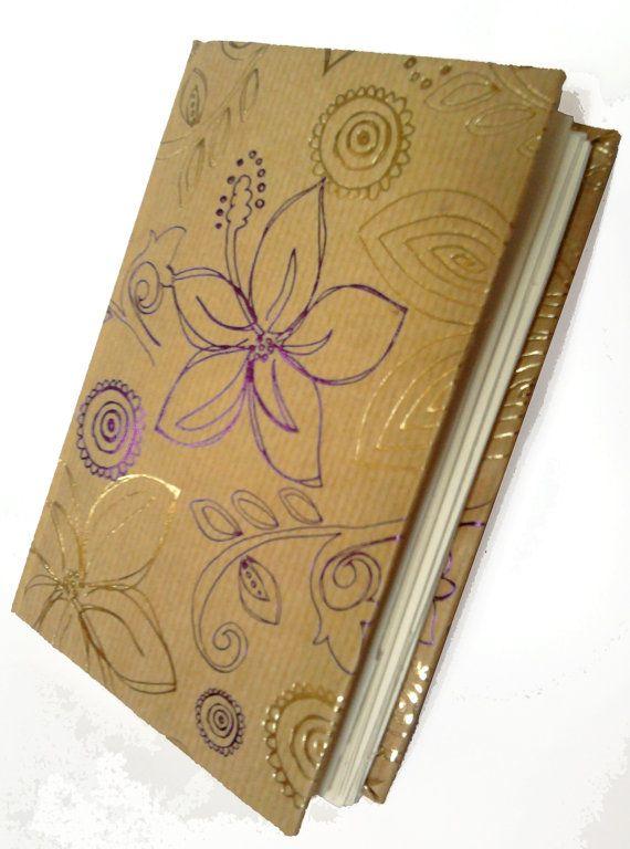 Handmade A6 Floral Sketchbook   - The Sketchbook Artist  - Kim Jenkins