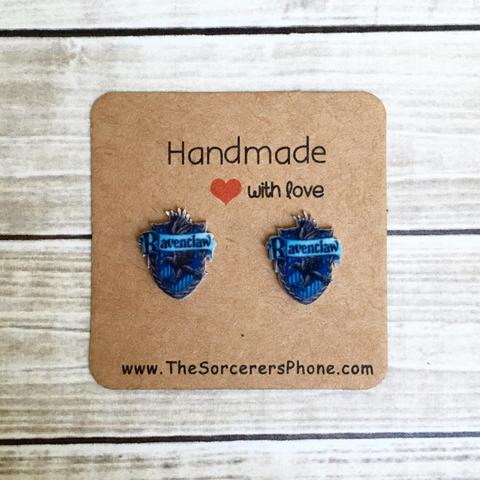"""HANDMADE """"Ravenclaw"""" inspired Earrings"""