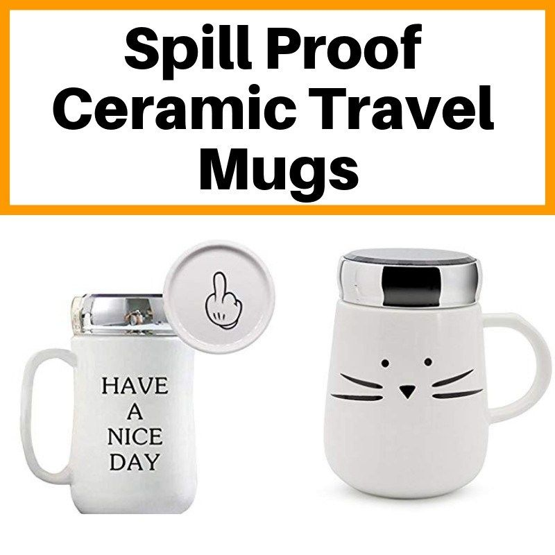Ceramic Mug With Spill Proof Lid