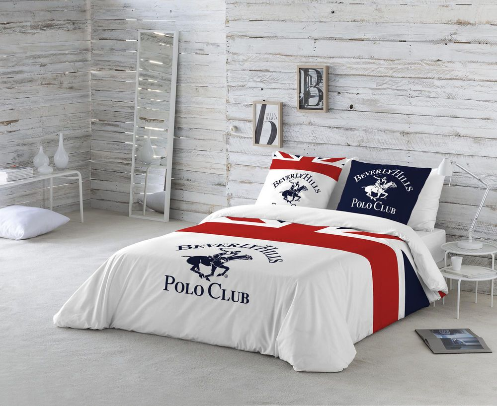 BEVERLY HILLS POLO CLUB Funda nordica cama + funda de almohada