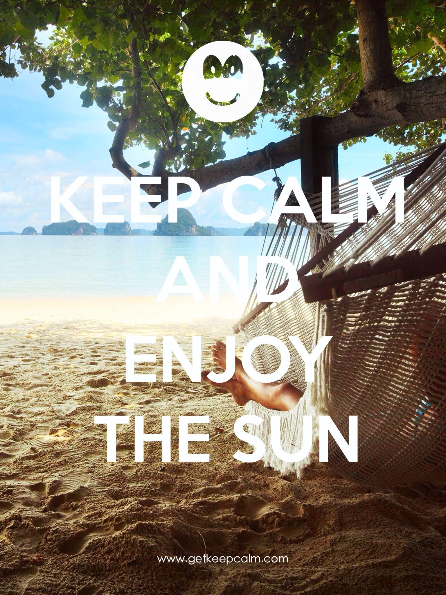 KEEP CALM and ENJOY The SUN created by IEC