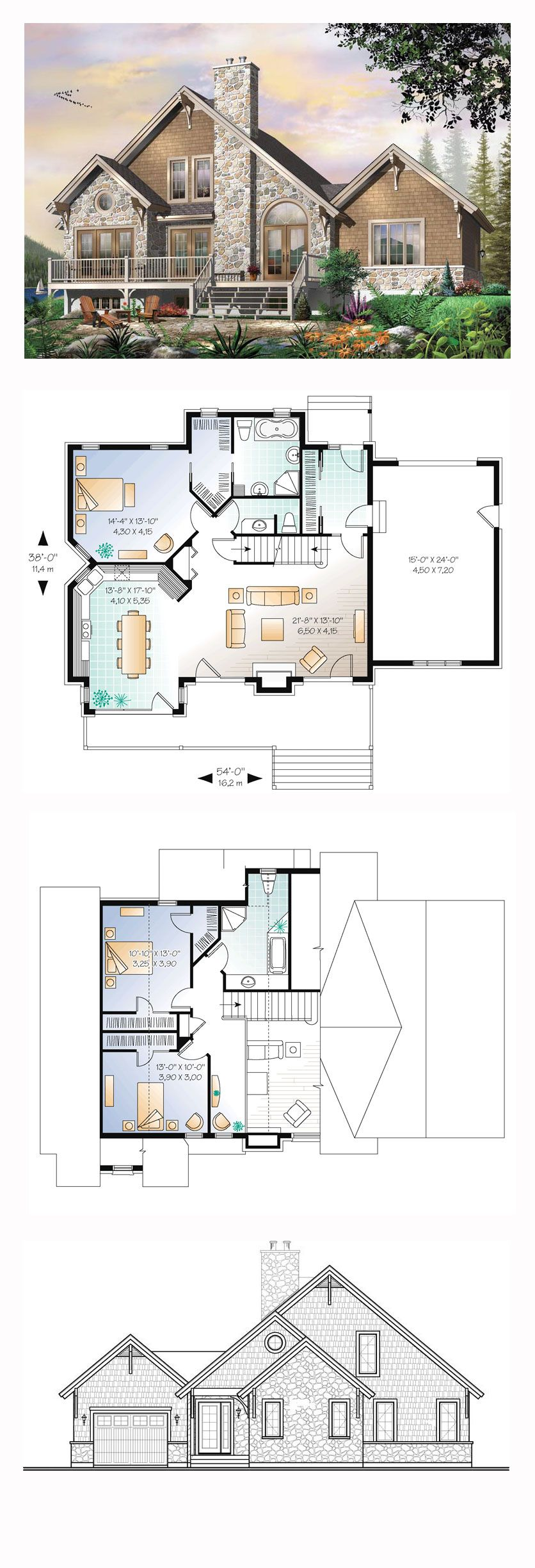 Coastal country craftsman european traditional house plan for Coastal craftsman house plans