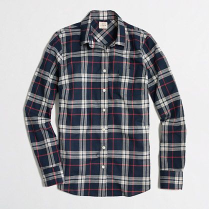 J.Crew Factory - Factory classic button-down shirt in plaid ...