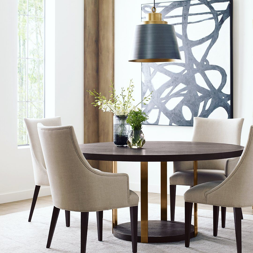 Theodore Alexander S Adele Dining Armchair And Tambura Dining Table Luxury Furniture Furniture Home Decor