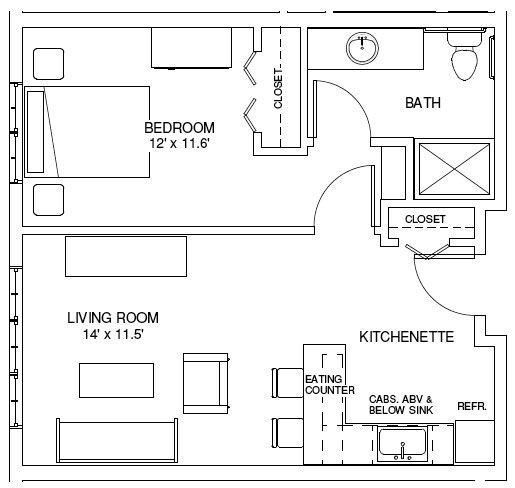 One Bedroom House Plans One Bedroom Floorplans Find House