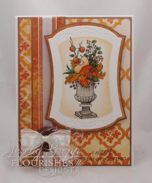 One Krafty Kat: Flourishes Timeless Tuesday #233 - Autumn Colors