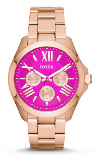 c08a691f0ce7  thinkpink ans support the cure with this Fossil AM4549 Cecile  Multifunction Pink Dial Rose Gold Tone Stainless Steel Strap Women s Watch
