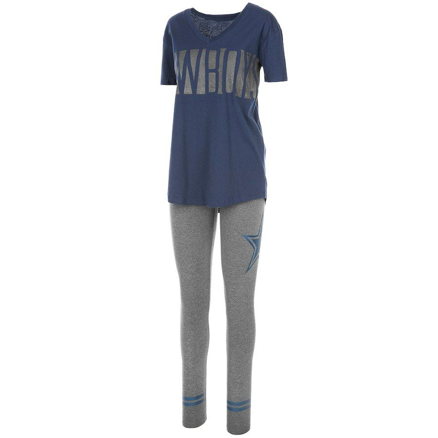 8a87d3880a Dallas Cowboys Women s Ridley T-Shirt   Leggings Sleep Set - Navy Heathered  Charcoal