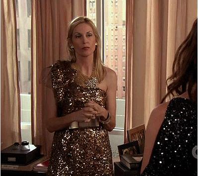 Lily Humphrey Gossip Girl outfit goldenes Kleid | Outfits aus Gossip ...