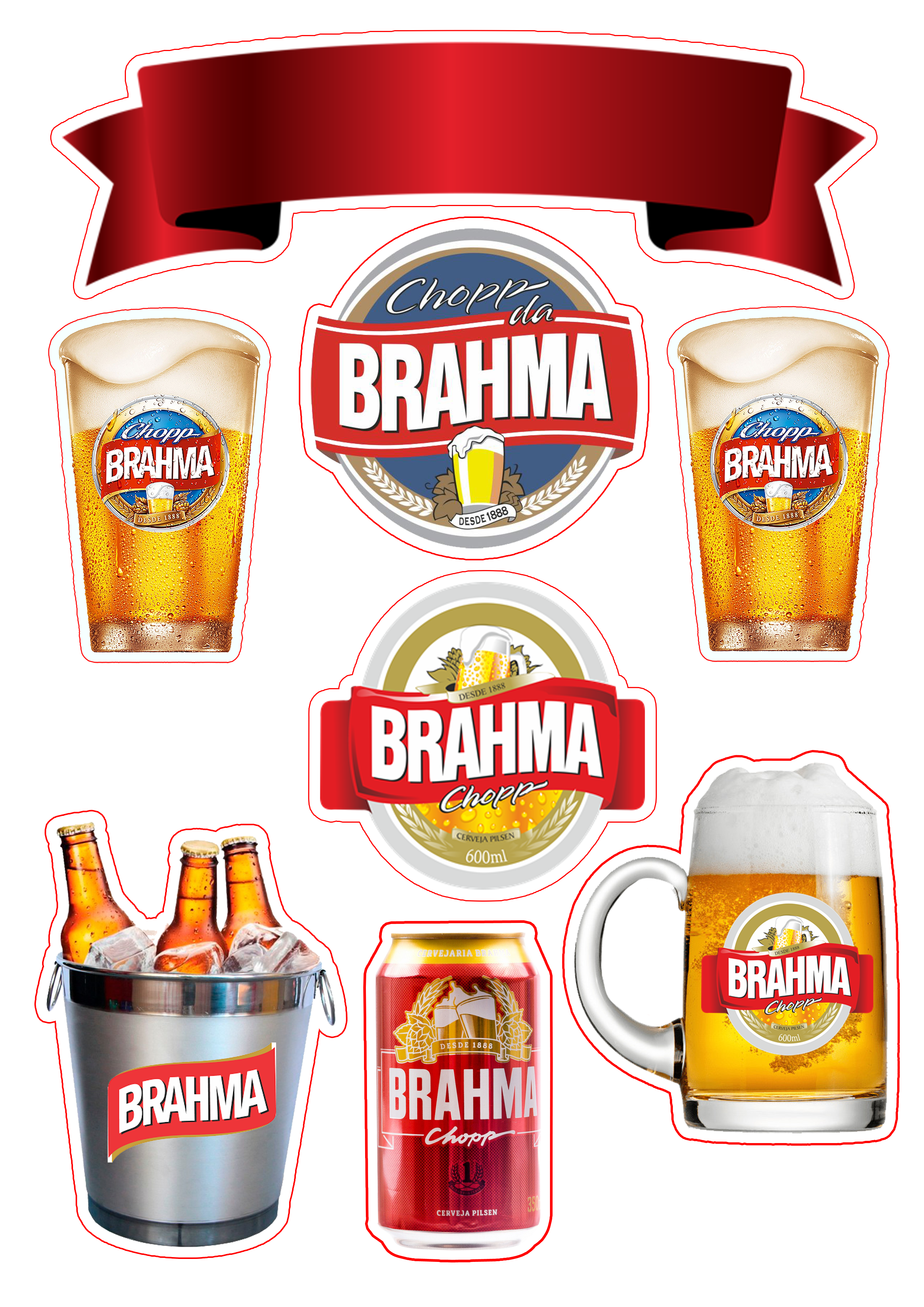 Topo De Bolo Cerveja Brahma Bolo Cerveja Bolo Boteco Comida De