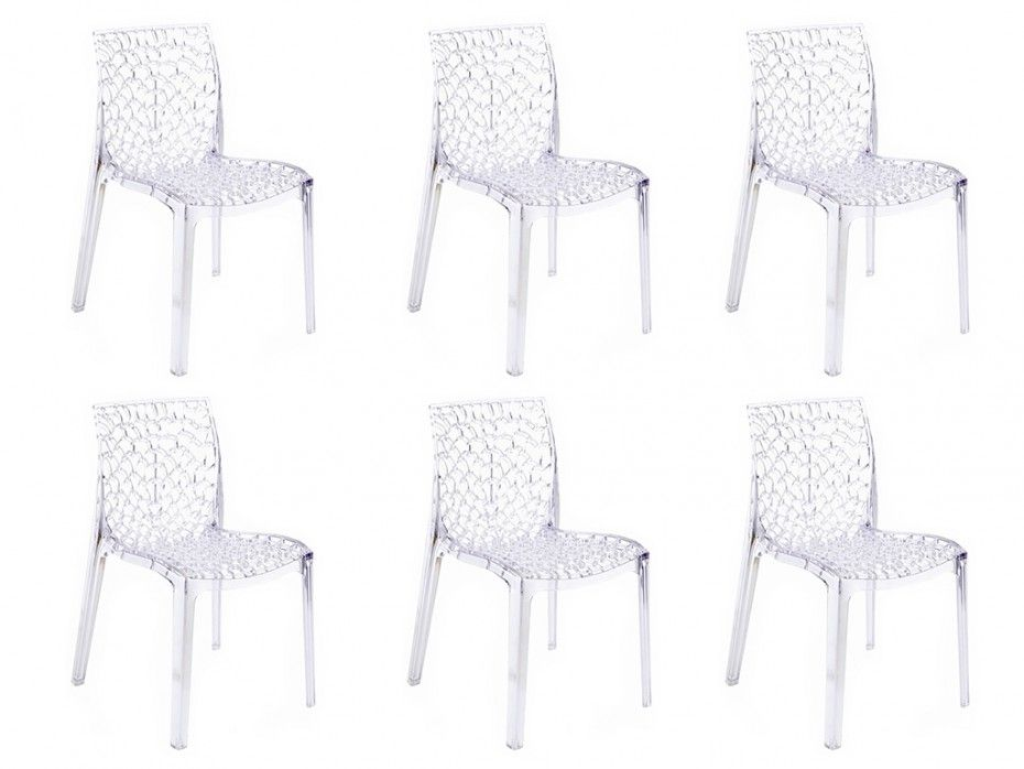 lot de 6 chaises diademe empilables en
