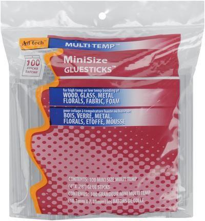 Multi Temp Mini Glue Sticks-5/16 X4  100/Pkg $6.95