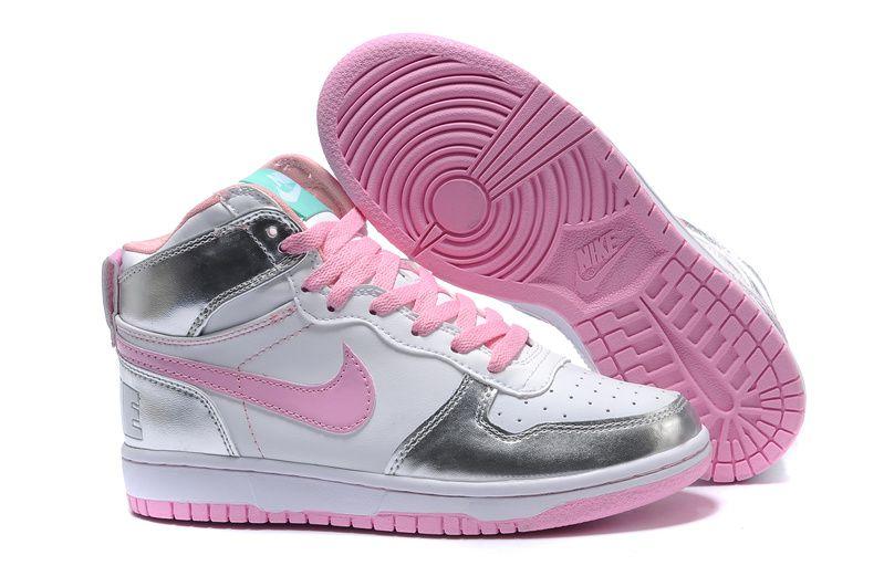 pretty nice 14453 43e2c Nike Dunk High Le SB Metallic Silver Prism Pink