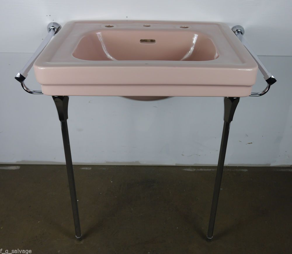 Antique Vintage American Standard Bathroom Sink Pink