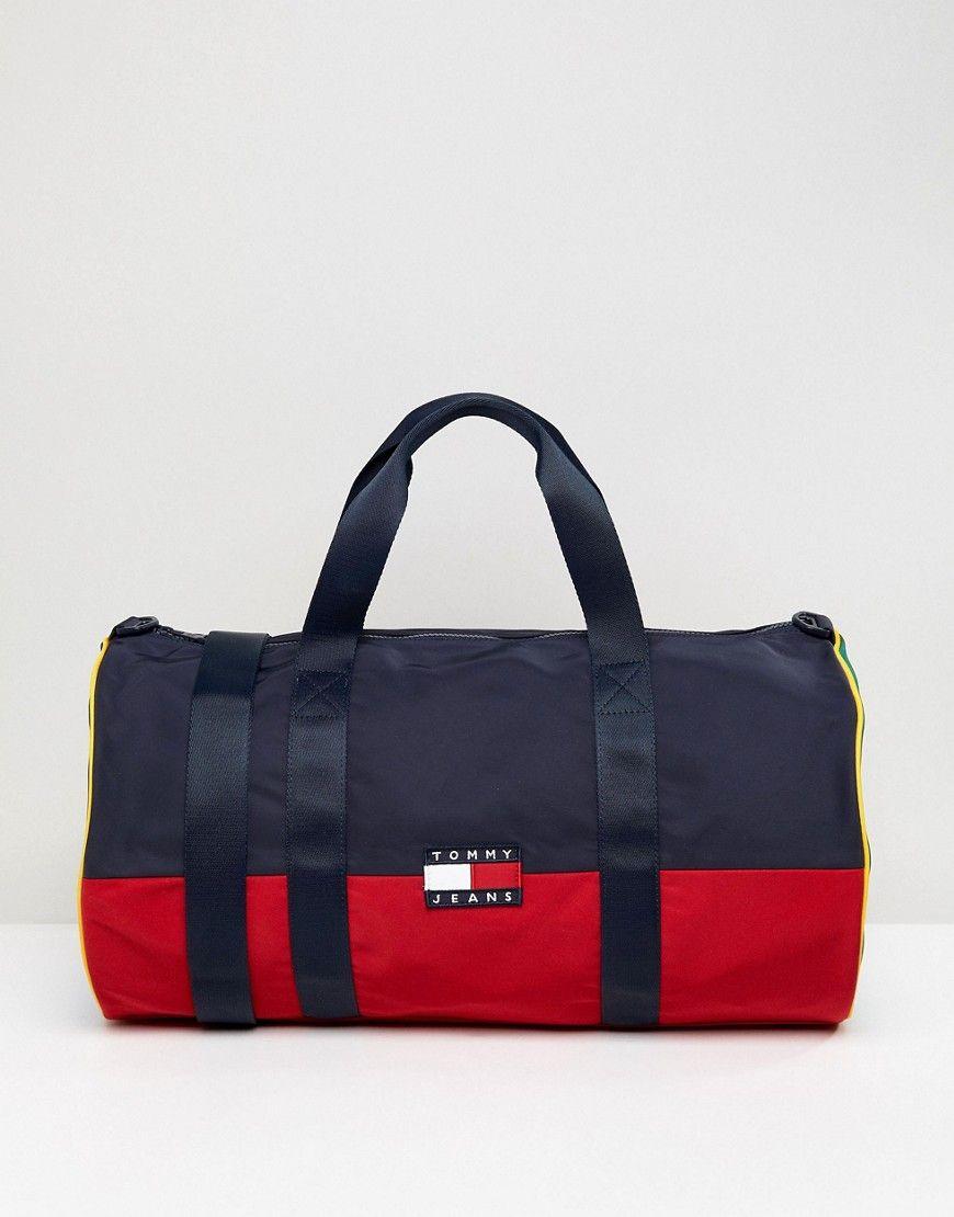 Tommy Jean 90s Capsule Duffle Bag Multi Womens Designer Bags Handbags