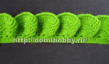 оборки воланы крючком узоры Crochet Edging Patterns Crochet