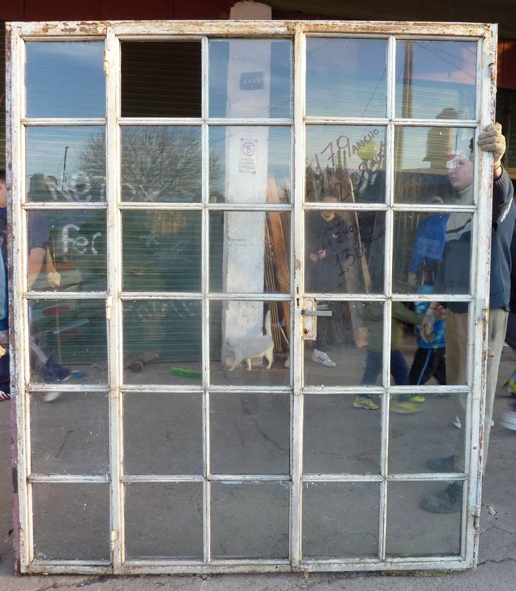 Ventana Balcon De Hierro Con Vidrio Repartido 2 Hojas - $ 3.500,00 ...