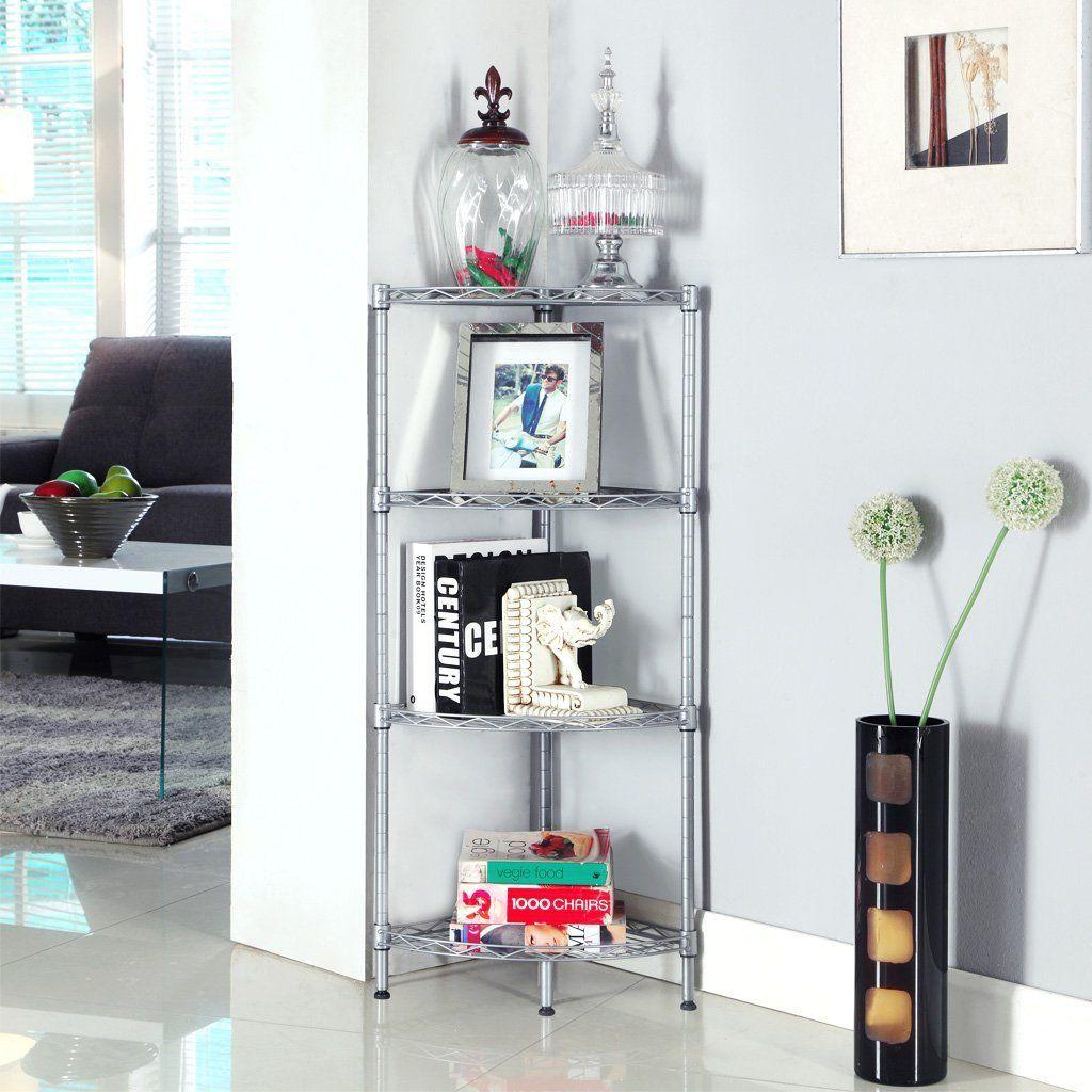 Kitchen Shelf Amazon: Amazon.com: LANGRIA 4-Tier Wire Mesh Corner Shelf, Free