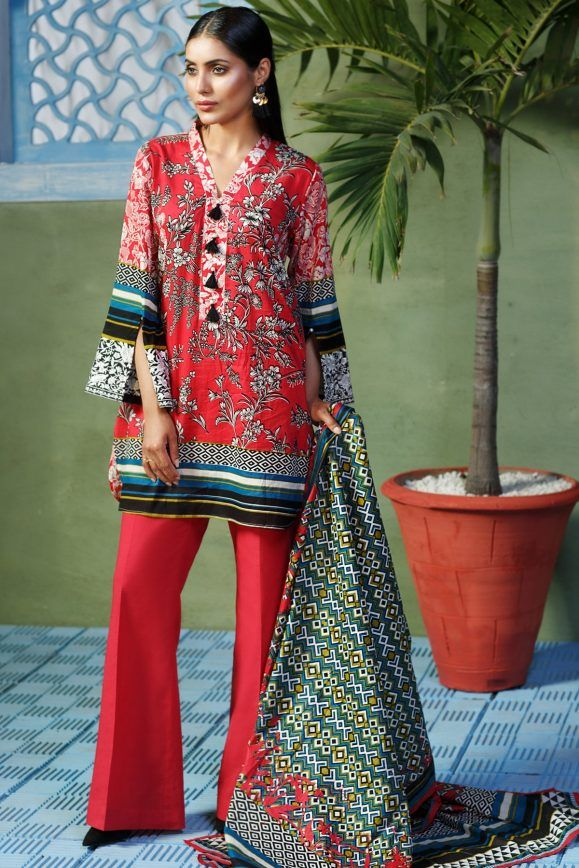 05379ae400a Khaadi Lawn Chiffon Eid Dresses Designs Collection 2017-2018 (27)