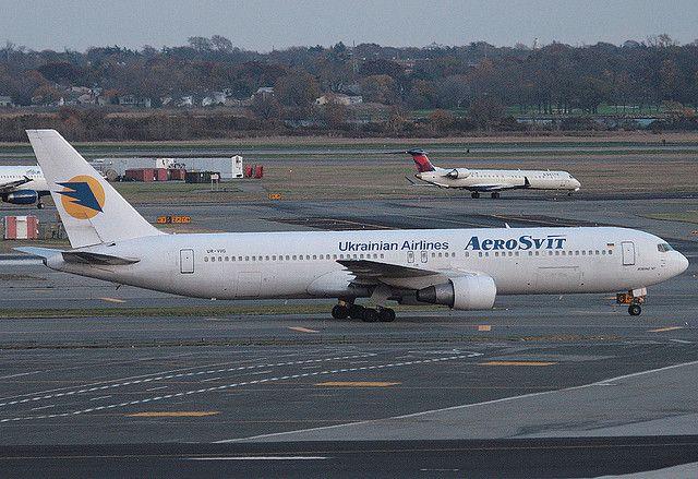AEROSVIT, BOEING 767, UR-VVG, at JFK, New York, USA. October, 2008