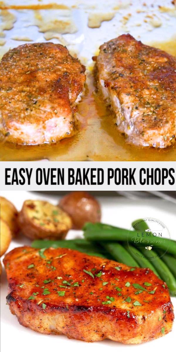 Easy Oven Baked Pork Chops #ovenbakedporkchops