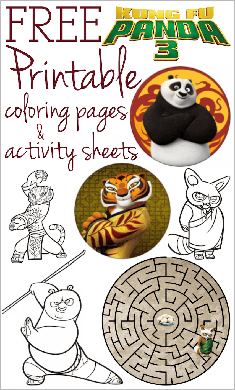 Kung Fu Panda 3 Printable Coloring Pages And Activity Sheets Kung Fu Panda Kung Fu Panda Party Panda Card