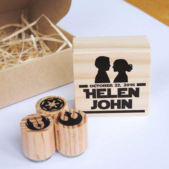 Star Wars Wedding Gifts: Star Wars Wedding Stamp Set, Padme And Anakin, Star Wars
