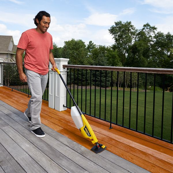 Renuvo Deck Staining Tool With Images Staining Deck Building A Deck Deck