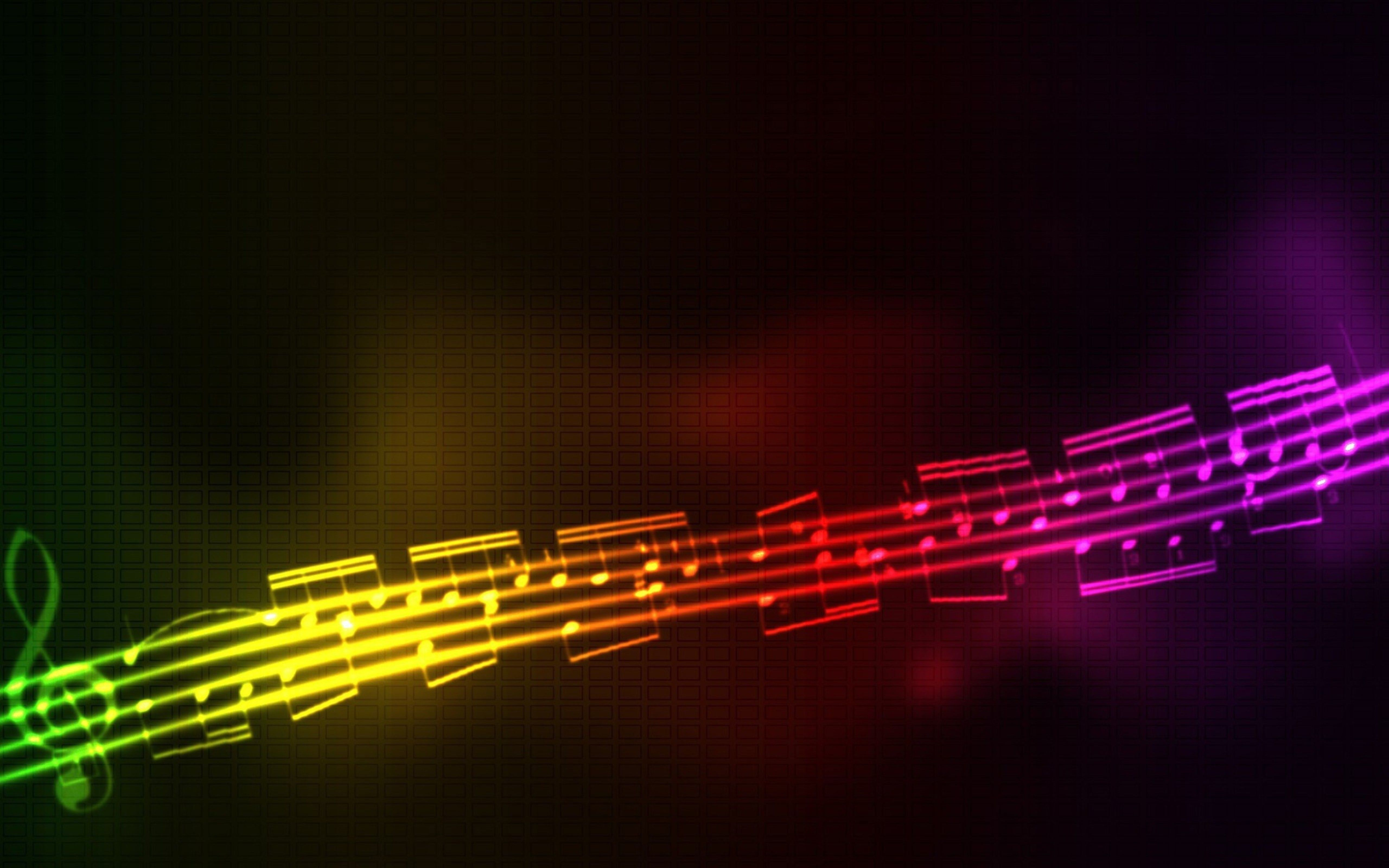 Rainbow Musical Note Music Is Life And Happiness Artistic Wallpaper High Resolution Wallpapers Music Backgrounds