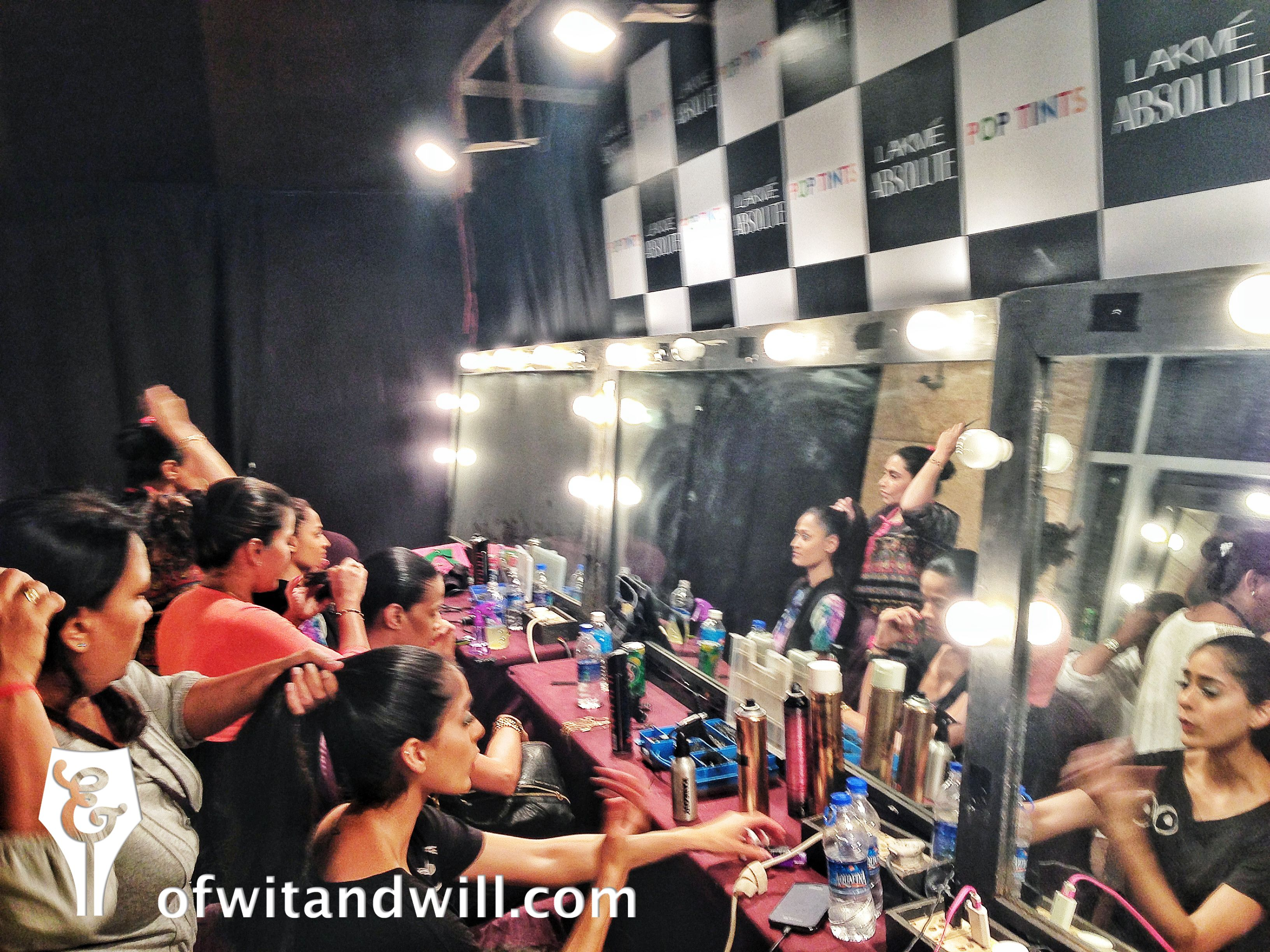 Models, designers and lots of hairspray... Backstage at India's fashion event of the season-- Lakme Fashion Week!
