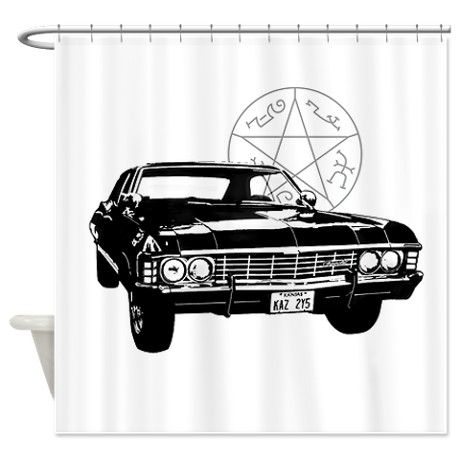 Impala With Devils Trap Shower Curtain Devils Trap Impala