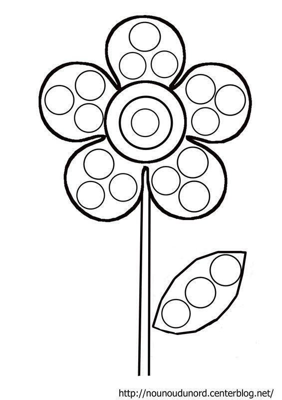 Fleur gommettes coloriage f te des m res maternelle coloriage fleur coloriage et gommette - Coloriage fleur gs ...