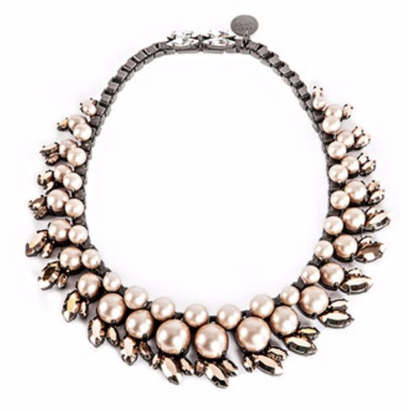 Ellen Conde Ivory Pearl And Rose Gold Sr3 Choker Necklace ($680) ❤ liked on Polyvore featuring jewelry, necklaces, pearl jewelry, choker necklace, rose gold jewelry, pearl necklace and ivory pearl necklace